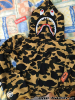 A BATHING APE FULL ZIP SHARK HOODIE - PONR