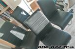4 ks čiernych koženkových stoličiek