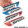 3D logo SPORT z kovovej zliatiny,pochromované