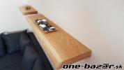 Príroná rustikalná dubová polica- DOPRAVA ZDARMA